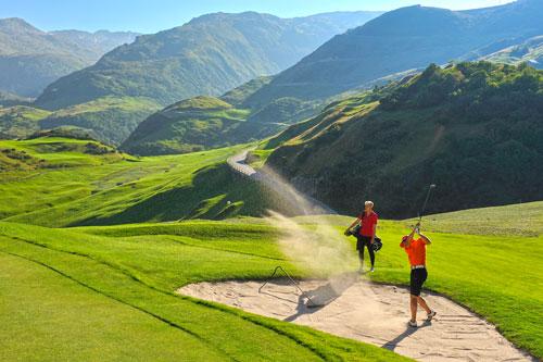 Golfplatz Realp Sandbunker